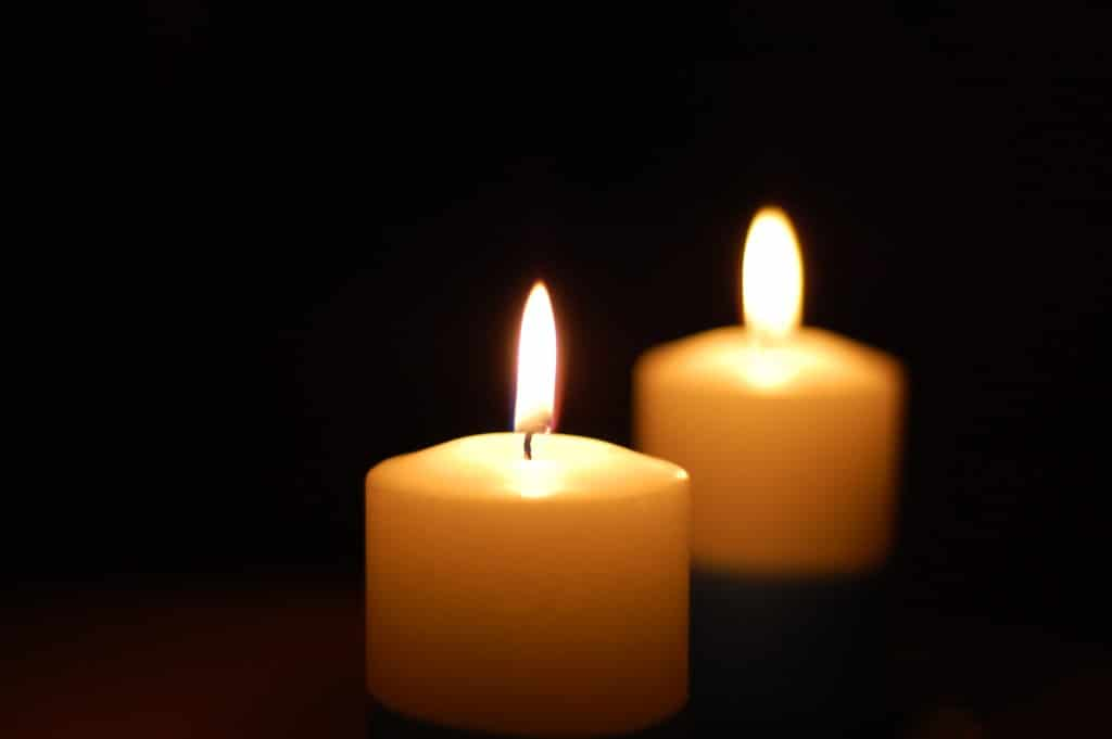 candle and flame