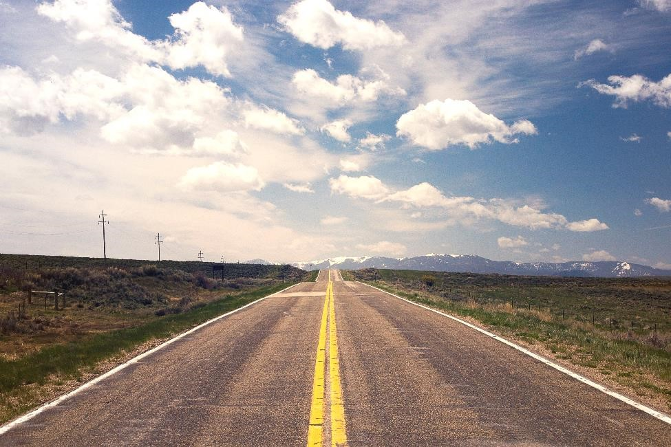 Straight road ahead