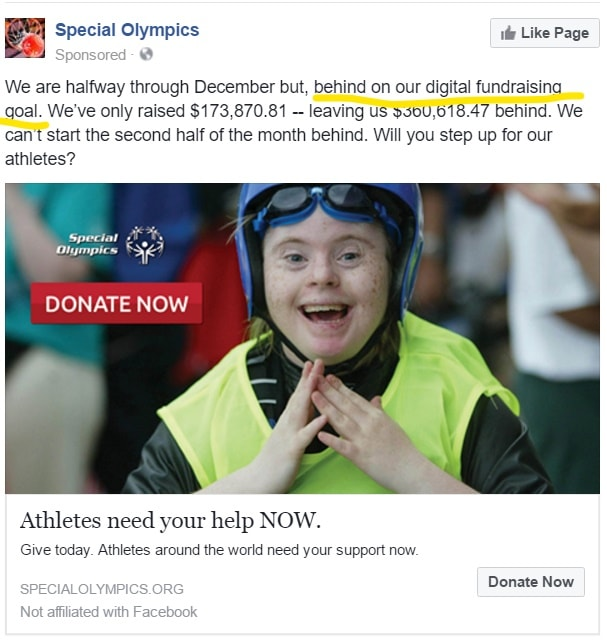 Special Olympics ad