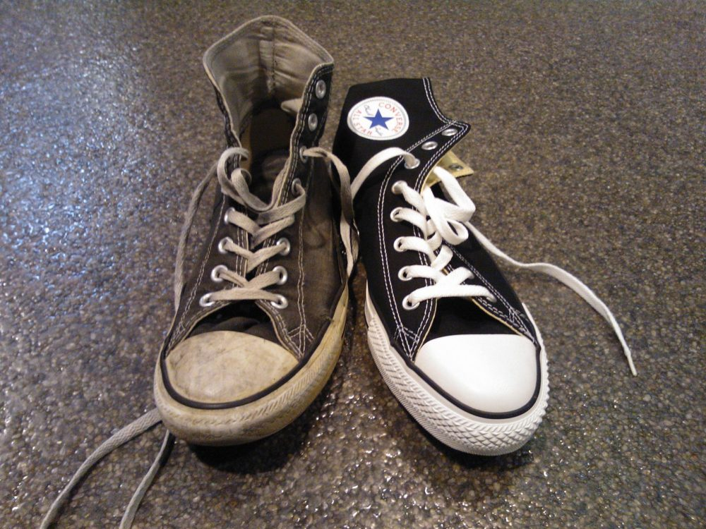 Old and new sneaker